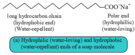 cleansing action of soap