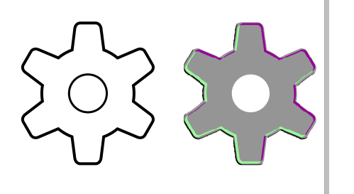How to Draw Gear or Setting Icon In Corel Draw Step 4